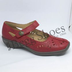 Hotter Comfort Shoes - Red - 8102/80 CHILE E FIT