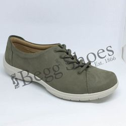 Hotter Comfort Lacing Shoes - Dark taupe - 7206/50 DEW E FIT