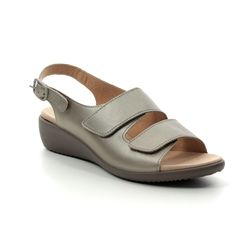Hotter Comfortable Sandals - Pewter - 9103/51 ELBA E FIT