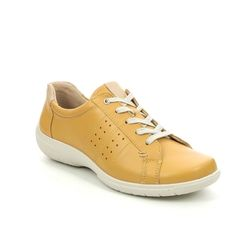Hotter Comfort Lacing Shoes - Yellow - 9905/05 FEARNE STD
