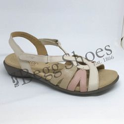 Hotter Sandals - Beige multi - 8107/50 FLARE E FIT