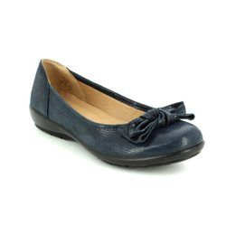 Hotter Pumps - Navy patent-suede - 7209/70 JEWEL