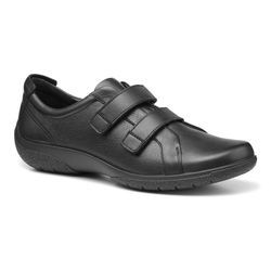 Hotter Comfort Lacing Shoes - Black leather - 9920/30 LEAP 2 EX WIDE