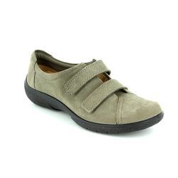 Hotter Comfort Lacing Shoes - Stone - 7207/00 LEAP
