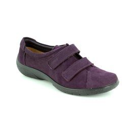 Hotter Comfort Lacing Shoes - PLUM - 7207/90 LEAP