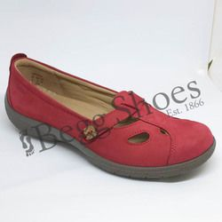 Hotter Comfort Shoes - Red nubuck - 8105/80 NIRVANA E FIT