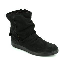 Hotter Boots - Ankle - Black suede - 7204/30 PIXIE
