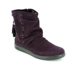 Hotter Boots - Ankle - Purple suede - 7204/90 PIXIE