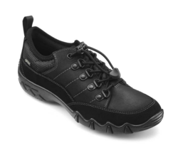 Hotter Walking Shoes - Black leather - 9113/30 RYDAL GTX E FIT
