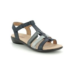 Hotter Comfortable Sandals - Navy leather - 9104/70 SOL    E FIT