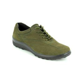 Hotter Comfort Lacing Shoes - Green Nubuck - 7208/90 TONE