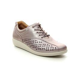 Hotter Comfort Lacing Shoes - Mauve leather - 9106/96 TONE   91 E FIT