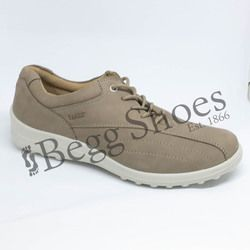 Hotter Comfort Lacing Shoes - Taupe nubuck - 7208/50 TONE E FIT
