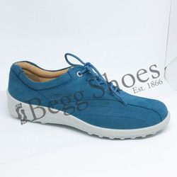 Hotter Comfort Lacing Shoes - Blue nubuck - 7208/72 TONE E FIT