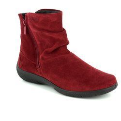 Hotter Boots - Ankle - Red suede - 7205/80 WHISPER