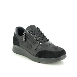 IMAC Comfort Lacing Shoes - Black suede - 7980/7150011 ALFALACE 05