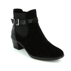 IMAC Boots - Ankle - Black suede - 81871/7150011 MARIANA