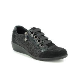 IMAC Comfort Slip On Shoes - Black Suede - 6971/54040011 PERSILACE