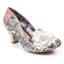 Irregular Choice Heeled Shoes - White multi - 4255-30A HEY FEVER