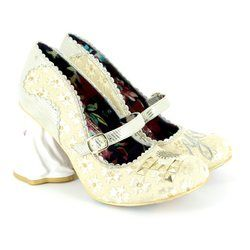 Irregular Choice Heeled Shoes - Off white multi - 4236-01A I LOVE YOU