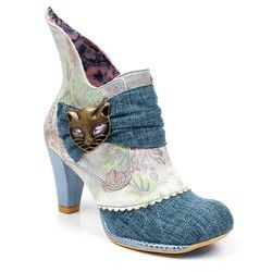 Irregular Choice Boots - Ankle - Pale blue - 3432-2AP MIAOW