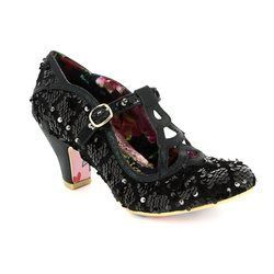 Irregular Choice Heeled Shoes - Black multi - 4255-05I NICELY DONE