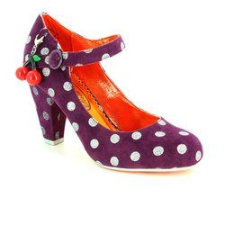 Irregular Choice Heeled Shoes - Purple multi - 3872-06T RIGHT STRIPES