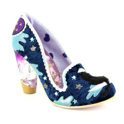 Irregular Choice Heeled Shoes - Navy multi - 3801-69A STARS AT NIGHT