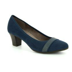 Jana Court Shoes - Navy suede - 2247420805 ABURA