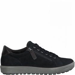 Jana Comfort Lacing Shoes - Navy Suede - 23611/27806 SITANES WIDE