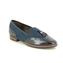 Jana Loafers and Moccasins - Navy patent - 24260/22805 TASSLE 91