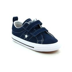 Converse Girls Trainers - Navy multi - 756132C/410 One Star 2V OX