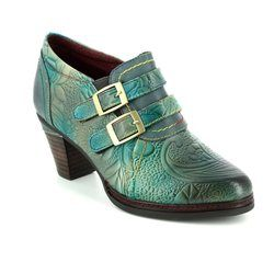Laura Vita Heeled Shoes - Turquoise - 3008/70 AGATHE 100