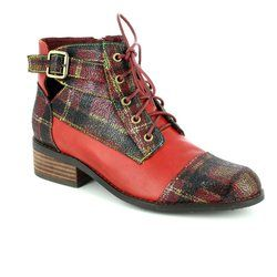 Laura Vita Boots - Ankle - Red multi - 3005/80 ALICE 16