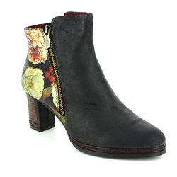 Laura Vita Boots - Ankle - Black multi - 3006/30 ANGELA 14
