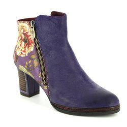 Laura Vita Boots - Ankle - Purple multi - 3006/90 ANGELA 14
