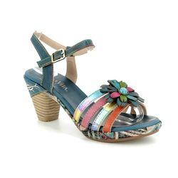 Laura Vita Heeled Sandals - Navy - 9101/70 BELFORT 07