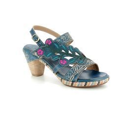 Laura Vita Sandals - Blue multi - 1011/70 BELFORT 87