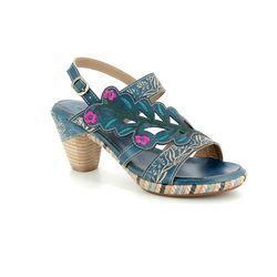 Laura Vita Sandals - Blue multi - 1011/70 BELFORT 87