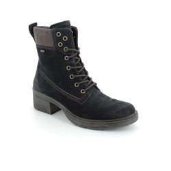 Legero Boots - Ankle - Navy suede - 00554/80 LAURIALACE GORE-TEX