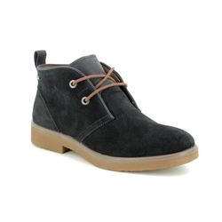 Legero Boots - Ankle - Navy Suede - 00683/80 SOANA LACE GORE