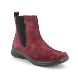 Legero Chelsea Boots - Red suede - 09571/49 SOFT CHELSEA GTX
