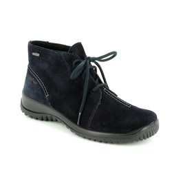 Legero Walking Boots - Navy suede - 00570/80 SOFTBOOT GORE-TEX