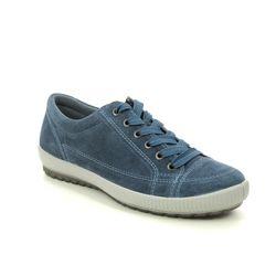Legero Comfort Lacing Shoes - Blue Suede - 00820/86 TANARO STITCH 2