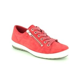 Legero Comfort Lacing Shoes - Red suede - 00818/50 TANARO ZIP