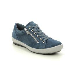 Legero Comfort Lacing Shoes - Blue Suede - 00818/86 TANARO ZIP 2