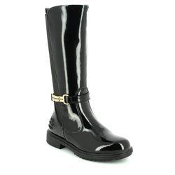 Lelli Kelly Girls Boots - Black patent - LK7650/DB01 DILETTA HIGH
