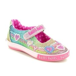 Lelli Kelly Girls Shoes - Various - LK5072/GX02 RAINBOW HEARTS