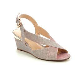 Lotus Heeled Sandals - Pink - ULS071/60 ADIVA