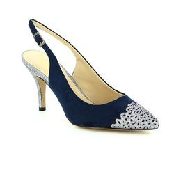 Lotus Heeled Shoes - Navy multi - 50796/70 ARLIND